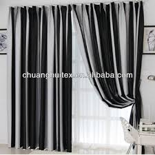 Blackout Window Curtains European Blackout Window Curtain By Black And White Striped Plain