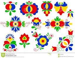 moravian folk ornaments stock vector image of flower 37855852