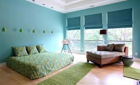 Bedroom Colors Ideas  Blue And Bright Lime Green Interior - Bedroom ideas blue