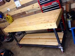 bench build willomet garage i m a tall guy so working height is 40