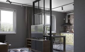 separate open kitchen from the living room partition walls in