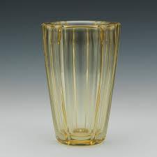 Yellow Glass Vase Daum Nancy Aspire Auctions