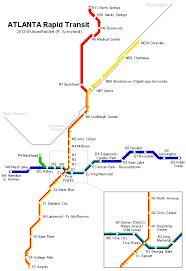 map of atlanta metro area urbanrail america usa atlanta rapid transit
