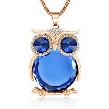 long gold owl necklace images 8 colors trendy owl necklace fashion rhinestone crystal jewelry jpg