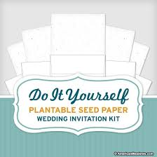 Plantable Wedding Invitations Do It Yourself Seed Wedding Invitation Kit American Meadows