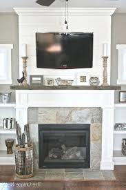 decorating a stone fireplace mantel for christmas hearth raised