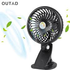 Small Oscillating Desk Fan Clip Fan 360 Degree Desk Fan Usb Rechargeable Battery