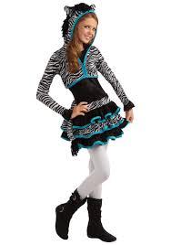 tween zebra costume cute teen girls zoo animal costume