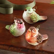 blown glass bird ornaments set of 3 national geographic store
