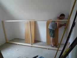comment faire un placard dans une chambre comment faire des placards sous comble collection avec velux salle