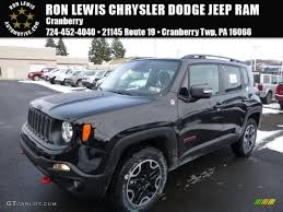 jeep renegade dark blue 2016 black jeep renegade trailhawk 4x4 110115554 gtcarlot com