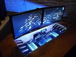 pc int gr bureau bureau sur mesure 4 avec un magnifique ordinateur int gr dans niko