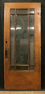 Antique Exterior Door 36 X84 Antique Exterior Entry White Oak Wood Door 9 Beveled Glass