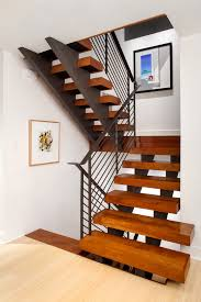 painting stair treads with light wood floor staircase contemporary