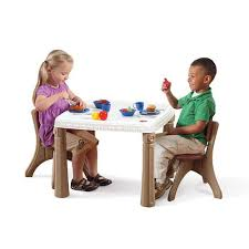 step2 table and chairs green and tan step2 lifestyle kitchen table and chair set step2 toys r us