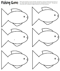 fish cut out template kids coloring free kids coloring