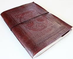 leather scrapbook large leather celtic tree of journal or scrapbook