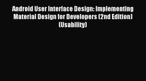 download android user interface design implementing material