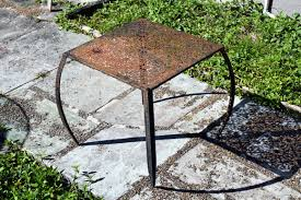 How To Restore Metal Outdoor Furniture by Restoring A Steel Outdoor Table The Adventures Of Eiki Martinson