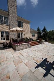 Unilock Michigan Unilock Patio With Yorkstone Paver And Estate Wall Planter Photos