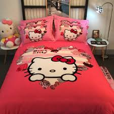 Hello Kitty Bedroom Set Twin Online Get Cheap Hello Kitty Bedding Set For Baby Bed Aliexpress