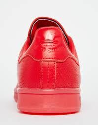 adidas originals originals stan super colour scarlet red trainers