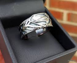 custom of steel armor inspired superman ring