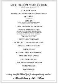 how to write a wedding program wedding reception programs templates interior designing best 25