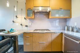 glass tile backsplash kitchen back painted glass cost per square