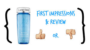 lancome bi facil double action eye makeup remover review youtube