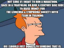 Donation Meme - join team and fundraise for lls or make a donation to lls bobby