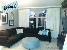 livingroom makeover bold and bright living room makeover before after