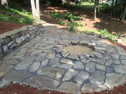 Flagstone Firepit Flagstone Patio Pit Installed For Seneca Customer