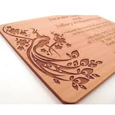 wooden wedding card view specifications details of wedding