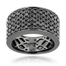 wedding band for designer 10k gold black diamond wedding band for men 1 67ct