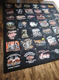 harley davidson t shirt quilt made by lux keepsake quilts diy