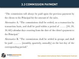 commission agreement contract sample best resumes curiculum