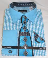 avanti dn76m agua blue men u0027s french cuff dress shirt with 2 tone