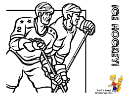 free coloring olympic hockey players free olympics