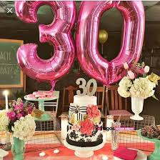 birthday helium balloons 40 inch pink and blue numbers aluminum foil helium balloon