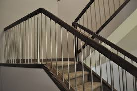 Stainless Steel Banister Rail Commercial Railing Job With Modern Post And 3 4