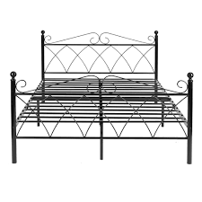 aliexpress com buy aingoo metal double bed 4ft 6 bed frame solid