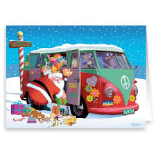 volkswagen santa amazon com santa goes retro 18 cards u0026 envelopes santa u0027s
