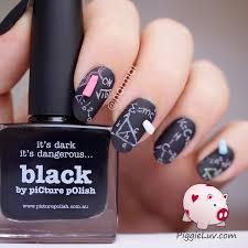 piggieluv 3d chalkboard nail art