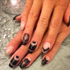 29 black acrylic nail art designs ideas design trends
