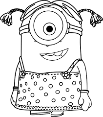 cartoons minions little coloring page wecoloringpage