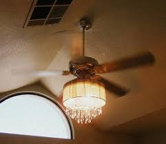 Home Decor With Lights This Lady Combined A Ceiling Fan And Crystal Chandelier Diy