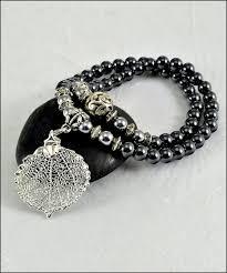 leaf wrap bracelet images Real leaf metal filigree double wrap bracelet silver aspen leaf jpg