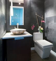 Modern Powder Room - trendy architecture modern powder room with white square toilets