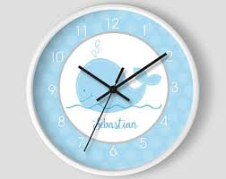 whale wall clock etsy